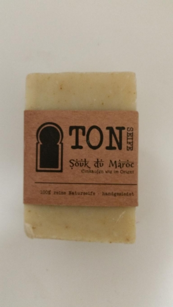 Ton-Seife 100% reine Naturseife handgesiedet 110g