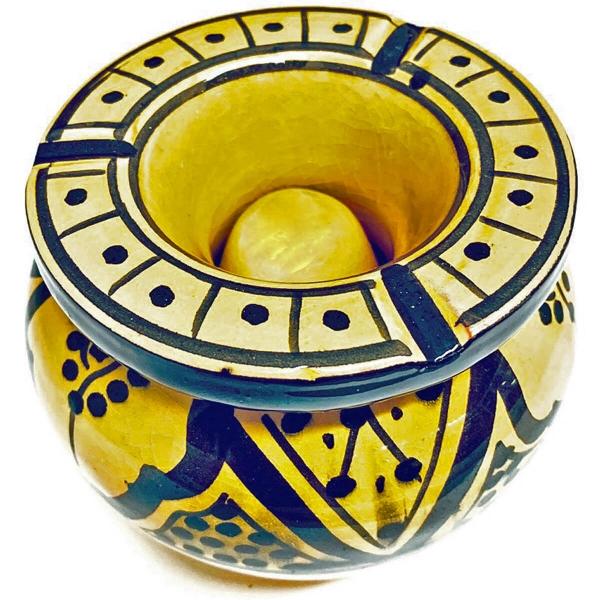 Orient-Keramik Aschenbecher Jalil handgearbeitet Sturmaschenbecher 13cm Ø