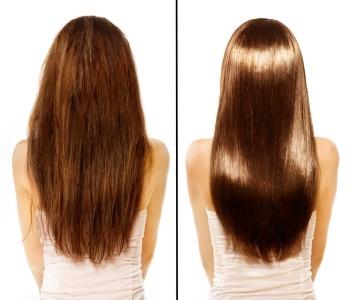 Haare vor und nach Arganöl-Anwendung
