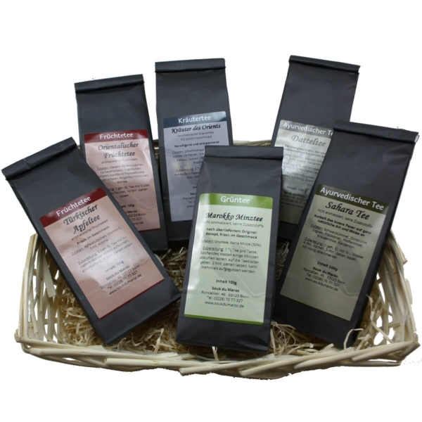 Tee Geschenkpaket 6x100gr verschiedene Sorten
