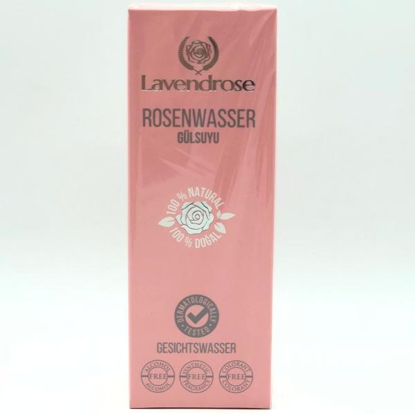 LAVENDROSE Rosenwasser 100% naturreines Gesichtswasser 250ml