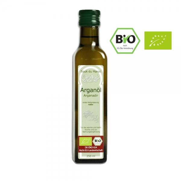 100% Bio Argan-Speise-Öl | nativ| kaltgepresst und Rein | 250ml mit Ausguss