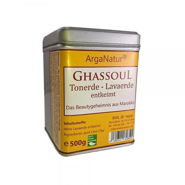 Ghassoul Rhassoul Tonerde Lavaerde 500g