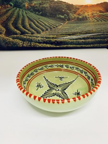 Orient-Keramik Schale Akhdar handgearbeitet grün green Style 1