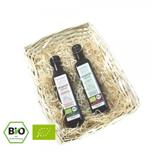 Bio Arganöl Geschenkset 2x 250ml nativ und geröstet