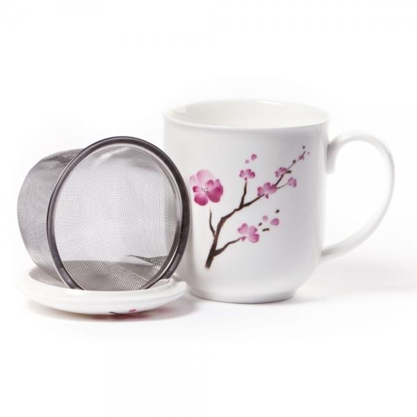 Shamila Teetasse Sakura mit Sieb und Deckel 0,35l