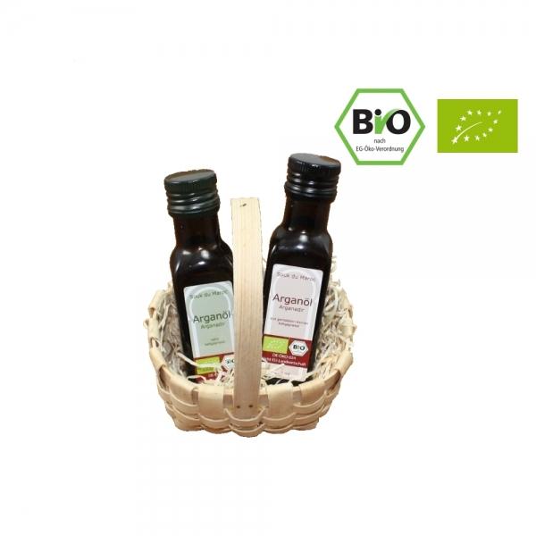 Bio Arganöl Geschenkset 2x 100ml nativ und geröstet