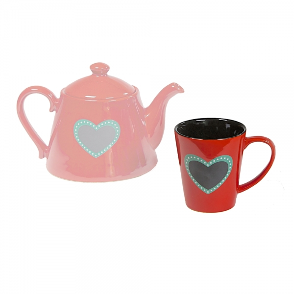 Teetasse Herz rot