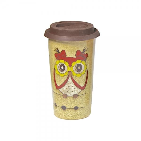 Doppelwandiger Kaffeebecher Kaffee-2-Go sand
