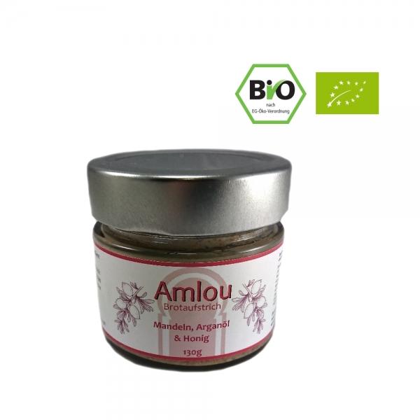 Bio-Amlou Arganöl-Brotaufstrich mit Arganöl, Mandeln und Honig 130g