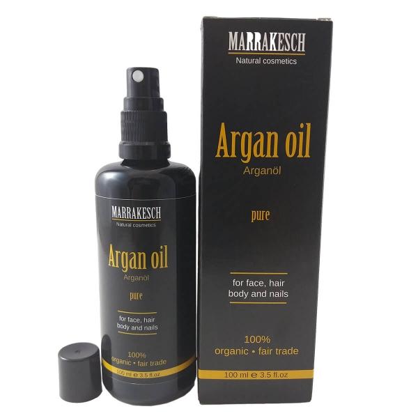 Marrakesch Bio-Arganöl für Haut und Haar 100ml mit Spritzaufsatz