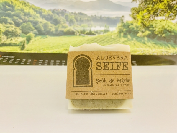 Aloevera-Seife 100% reine Naturseife handgesiedet 100g