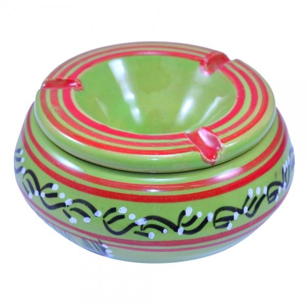 Keramik Aschenbecher Oliv Handarbeit aus Tunesien