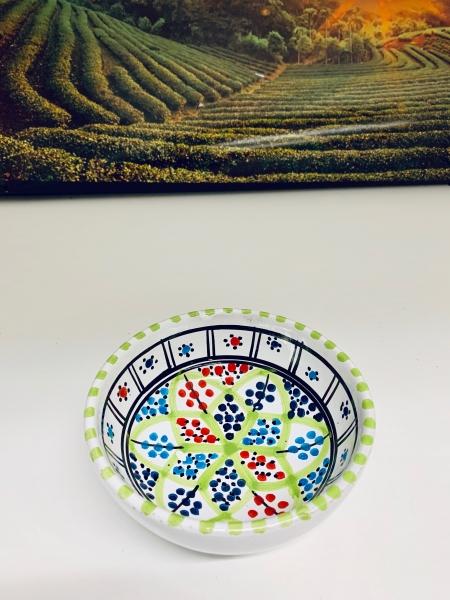 Orient-Keramik Schale Akhdar handgearbeitet grün green Style 2