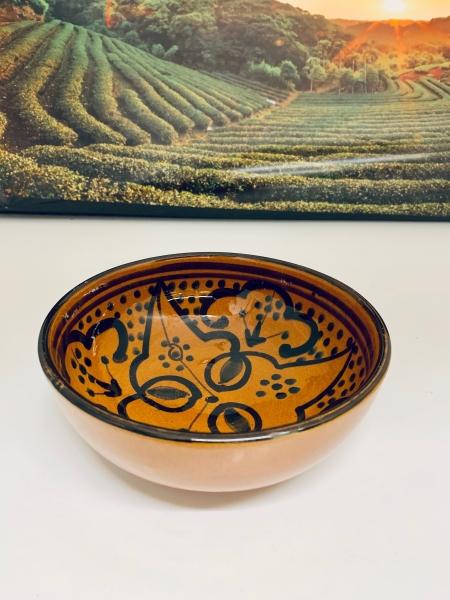 Orient-Keramik Schale Helder-Azraq handgearbeitet 15cm Ø