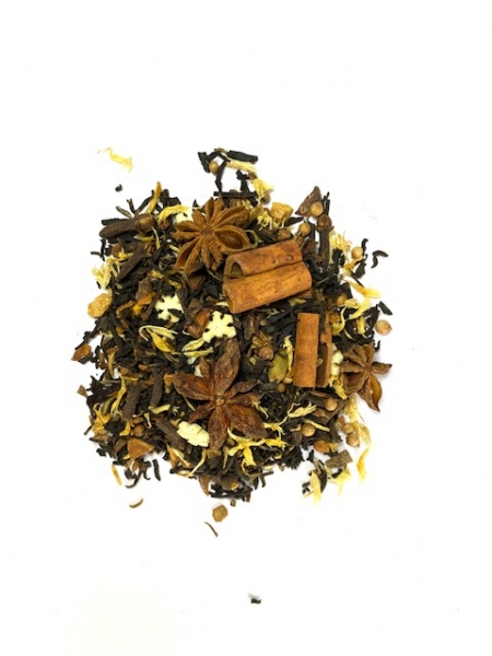 Schwarzer Tee Chakra-Chai aus Indien mit Nelken und Kandis(Lebenslust)