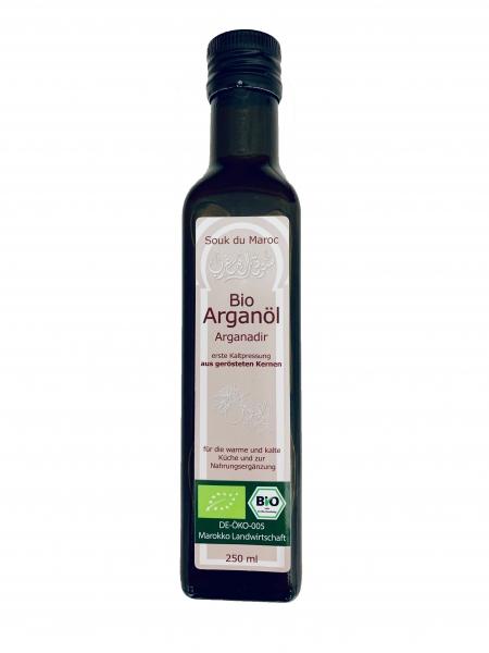 Bio Arganöl geröstet Arganadir Speiseöl aus Marokko 250ml