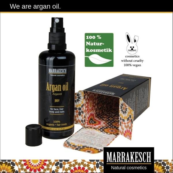 Marrakesch Arganöl für Haut und Haar 100ml mit Spritzaufsatz