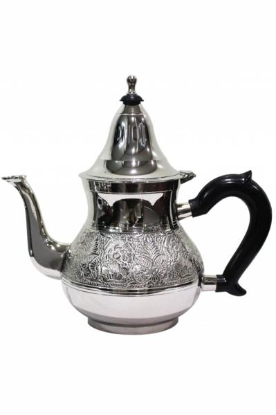 Marokko Teekanne Abidin silberfarbig- 1Liter