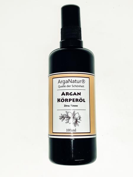 Arganöl Zitrus-Limone Argan-Körperöl 100ml ArgaNatur Massageöl