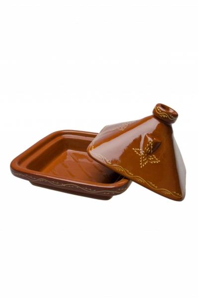 Premium Tagine, Marokkanische Eckige Tajine BELDI - 35cm
