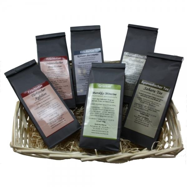 Tee Geschenkset 6x 100g verschiedene Sorten