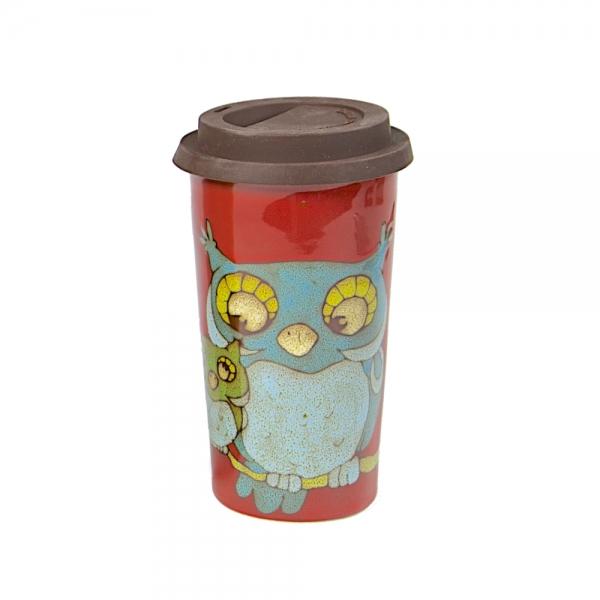 Doppelwandiger Kaffeebecher Kaffee-2-Go rot