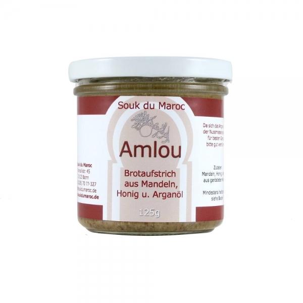 Arganöl Brotaufstrich Amlou aus Arganöl, Mandeln und Honig 125g