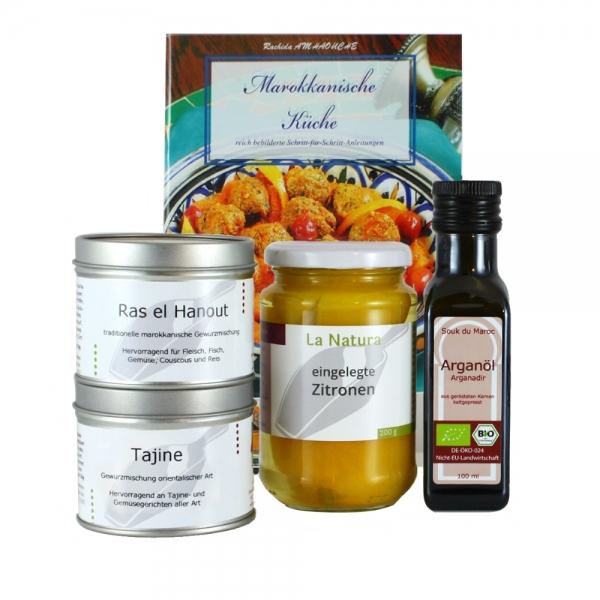 marokkanische Küche mit Arganöl und Rezeptbuch