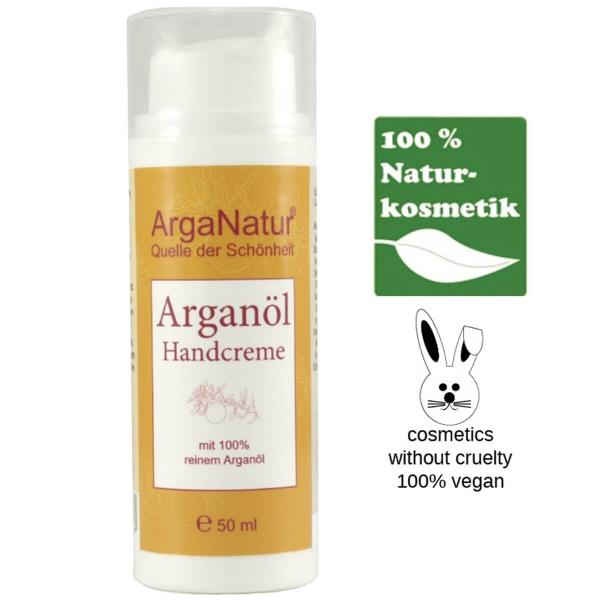 Arganöl Handcreme, Naturkosmetik Kaktusfeigenkernöl für Hände und Nägel von ArgaNatur
