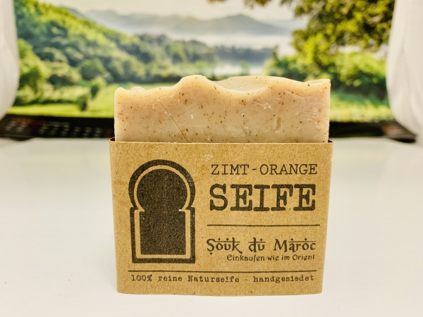 Zimt-Orange-Seife 100% reine Naturseife handgesiedet 100g