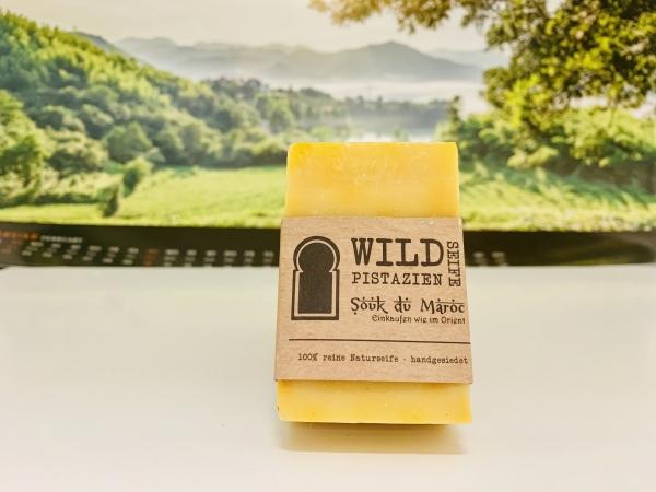 Wildpistazien-Seife 100% reine Naturseife handgesiedet 110g