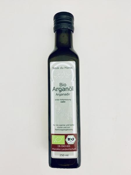 Bio Arganöl nativ Arganadir Speiseöl aus Marokko 250ml