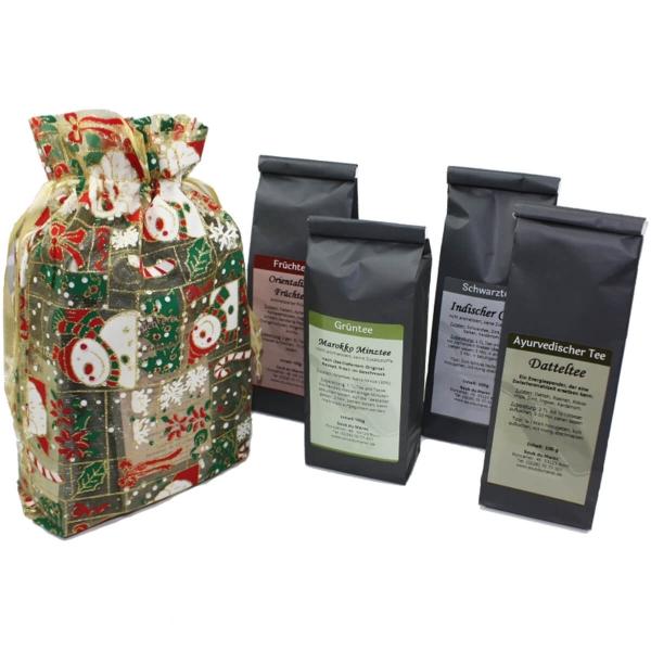 Tee Geschenkpaket 4x100gr verschiedene Sorten