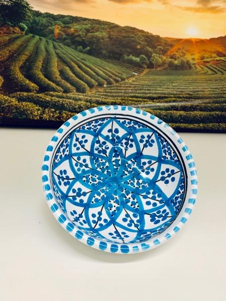 Orient-Keramik Schale Mut-Azraq handgearbeitet 13cm Ø/15cm