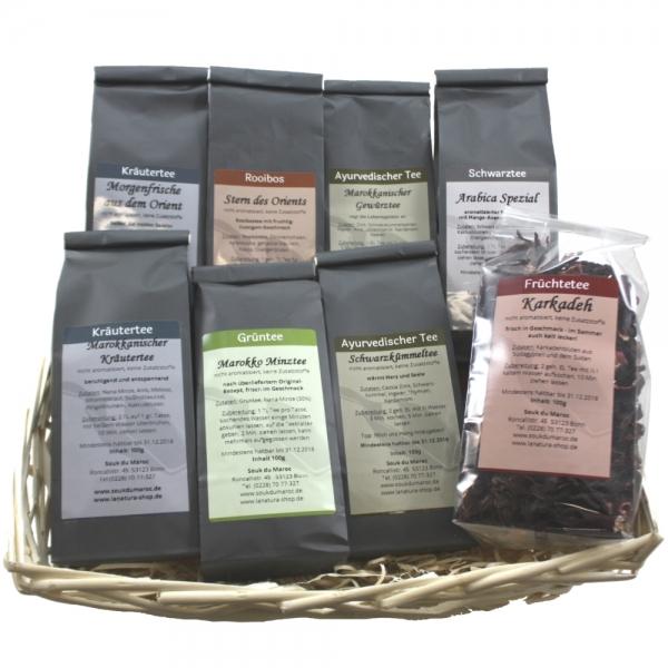 Tee Geschenkset 8x 100g verschiedene Sorten