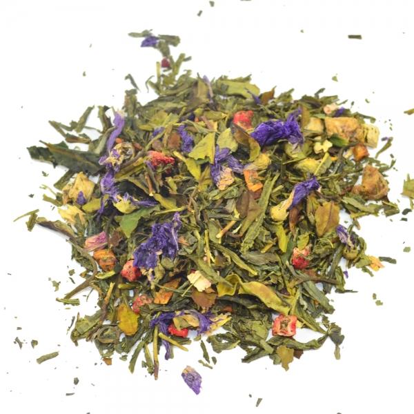 Bio Grüner Tee Weltreise mit Weißer Tee Ananas Himbeere Mango