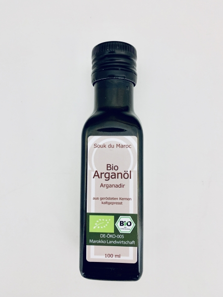 Bio Arganöl geröstet Arganadir Speiseöl aus Marokko 100ml