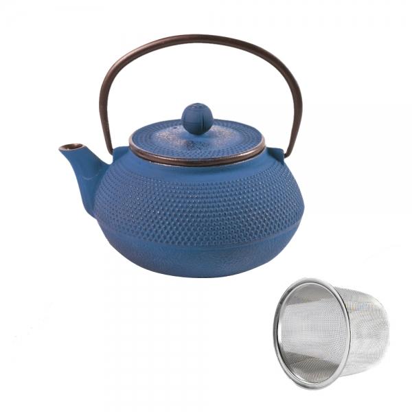 Teekanne japanisch Gusseisen Iro-Ocha blau