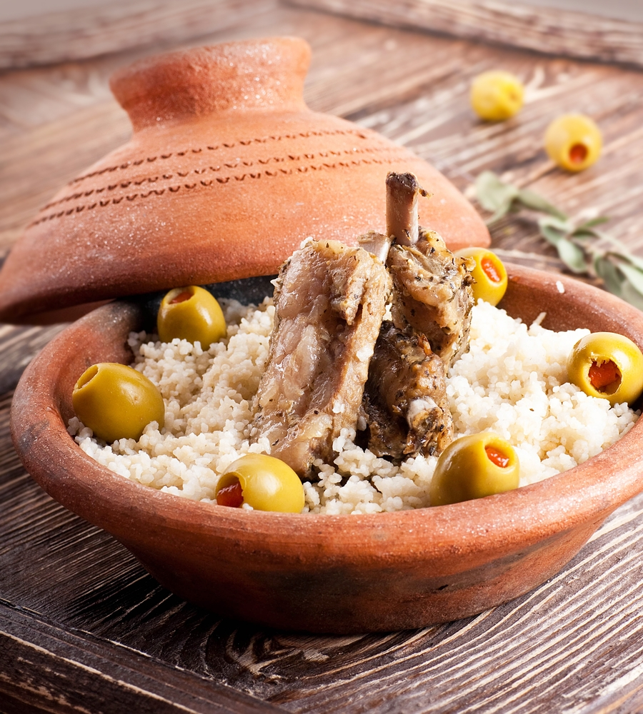 Tajine Gericht mit Lamm