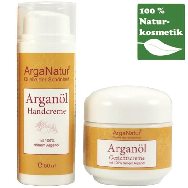 Arganöl für die Hand und Gesicht ein Creme-Geschenkduo von ArgaNatur